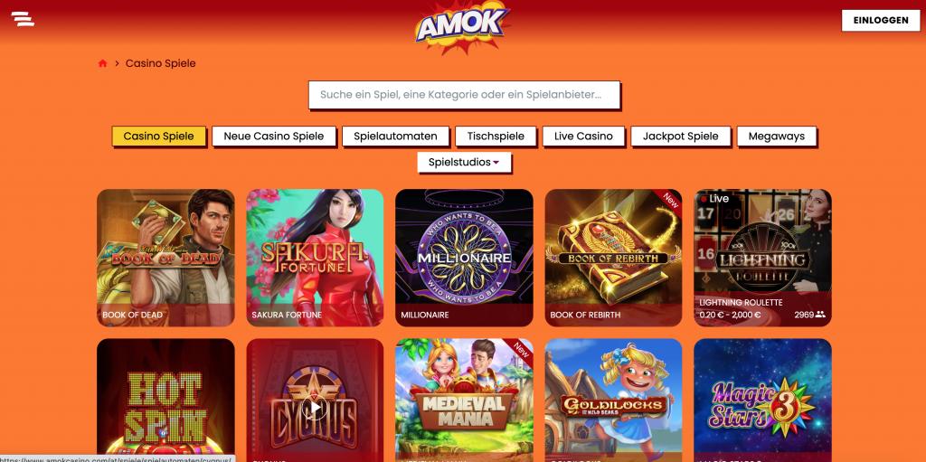 Amok casino spiel