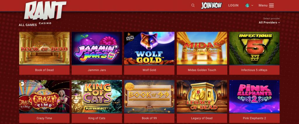 Rant casino games