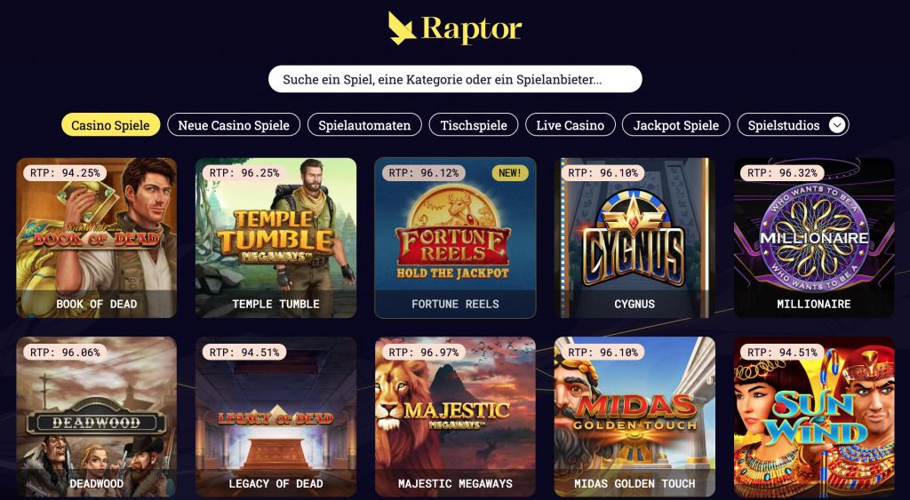 Raptor Casino spielen